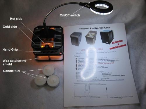 Block LED DESK LIGHT read